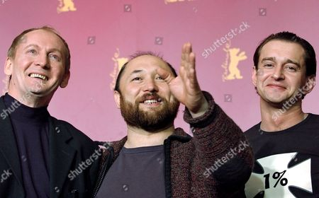 Russian Actors Viktor Verzhbitsky (l) and Konstantin Khabensky (r) and Film Director Timur Bekmambetom (c) Smile As They Present Their New Film 'Nochnoj Dozor' During a Press Conference at the Berlinale Filmfestival in Berlin Thursday 17 February 2005 Germany Berlin