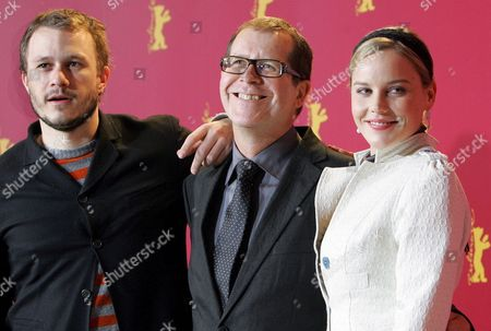 (l-r) Australian Actor Heath Ledger Australian Film Director Neil Armfield and Australian Actress Abbie Cornish Smile As They Attend a Photocall For Their New Film 'Candy' at the 56th International Film Festival in Berlin Wednesday 15 February 2006 'Candy' Runs in Competition at This Year's Film Festival Germany Berlin