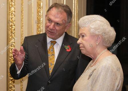 Queen Elizabeth II speaks to High Commissioner of Australia, John Dauth
