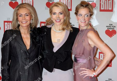 (l-r) German Renate Thyssen-henne Her Daughter Princess Gabriele Inaara Aga Khan and Journalist Katja Kessler Arrive For the Heart For Children ('ein Herz Fuer Kinder') Fundraising Gala in Berlin Germany 15 December 2007 the Gala is Organised by Germany Television Station Zdf and the German Newspaper 'Bild' to Collect Donations For Children in Need Germany Berlin