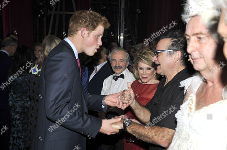 Prince Harry meeting Robin Williams, also pictured Andrew Sachs, Joan Rivers.