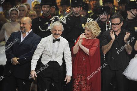 Andrew Sachs as Manuel, Joan Rivers. Robin Williams