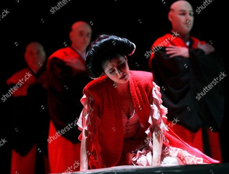 Opera Singer Irena Wischlizkaja As Princess Lan Pictured During Dress Rehearsals of the Opera 'Tea' by Chinese Composer Tan Dun in Oldenburg in This Picture From Earlier This Week 26 April 2005 'Tea' was Premiered in Tokyo in 2002; the German Premiere was Yesterday 29 April 2005 in Oldenburg Germany Oldenburg