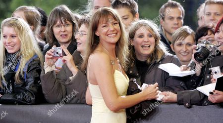 Stock Picture of German Actress Sophie Schuett Signs Autographs As She Arrives For the German Television Prize in Cologne Germany 29 September 2007 the Event Takes Place For the Ninth Time and Honours in 21 Categories Germany Cologne