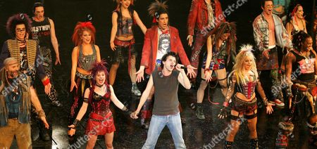 Stock Picture of Alex Melcher As Galileo Performs During the Premier of the Musical 'We Will Rock You' at the Musical Dome in Cologne on Sunday 12 December 2004 Germany Cologne
