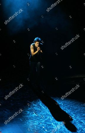 Alex Melcher As Galileo Performs During the Premier of the Musical 'We Will Rock You' at the Musical Dome in Cologne on Sunday 12 December 2004 Germany Cologne
