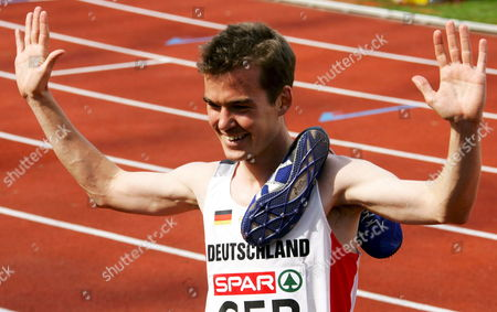 Long Distance Runner Arne Gabius Poses For the Photographers After He Placed Second in the 5000m Race at the Spar European Cup in Munich Germany 23 June 2007 Germany Munich