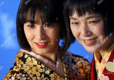 Japanese Actresses Rei Dan (l) and Kaori Momoi Pose During a Photo Call For the Film 'Love and Honor' at the 57th Berlinale Film Festival in Berlin Germany Friday 09 February 2007 Germany Berlin