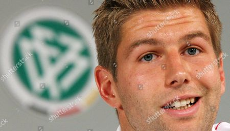 German Soccer Player Thomas Hitzelsperger Speakes During the Press Conference of the German Football Association (dfb) at the International Congress Centre (icc) in Berlin Friday 16 June 2006 Germany Berlin