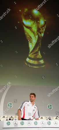 German Soccer Player Thomas Hitzelsperger at the End of the Press Conference of the German Football Association (dfb) at the International Congress Centre (icc) in Berlin Friday 16 June 2006 Germany Berlin
