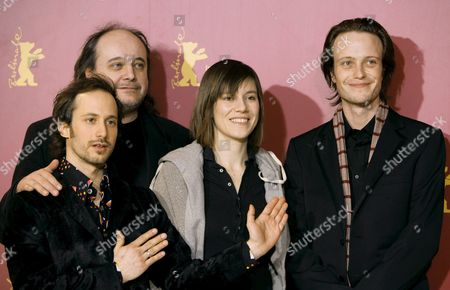 (l-r) Actors Michael Ostrowski Paulus Manker Pia Hierzegger and August Diehl Pose Together During Photocal For Their New Film 'Slumming' at the 56th International Film Festival in Berlin Friday 10 February 2006 the Film Directed by Austrian Film Director Michael Glawogger Runs in Competition at the Festival Germany Berlin