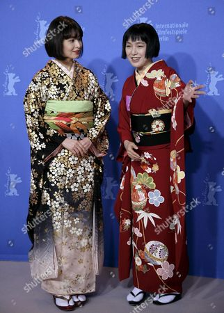 Japanese Actresses Rei Dan (l) and Kaori Momoi Pose During a Photo Call For the Film 'Love and Honor'at the 57th Berlinale Film Festival in Berlin Germany Friday 09 February 2007 Germany Berlin