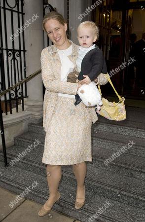 Stock Photo of Lady Nicholas Windsor (Paola Doimi de Lupis de Frankopan) and son Albert