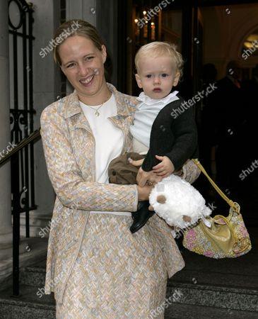 Stock Image of Lady Nicholas Windsor (Paola Doimi de Lupis de Frankopan) and son Albert