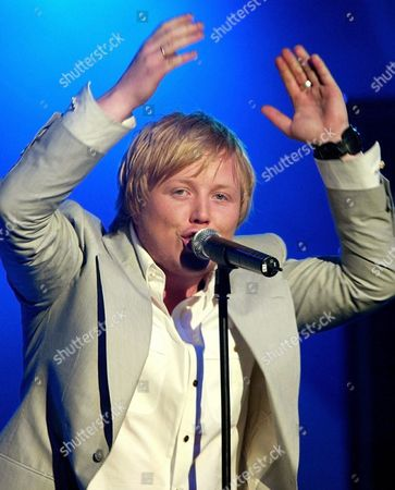 Norwegian Singer Kurt Nilsen Claps His Hands in Berlin's Velodrome on Friday 5 March 2004 During the German Pop Music Show 'The Dome ' Twenty International and National Stars Were Scheduled to Appear on the Program Presented by German Television Station Rtl Ii Among Them Kylie Minogue Nelly Furtado Him and Patrick Nuo Germany Berlin