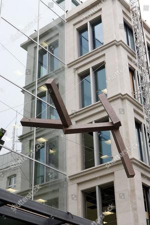 Joel Shapiro's sculpture titled 'Here'