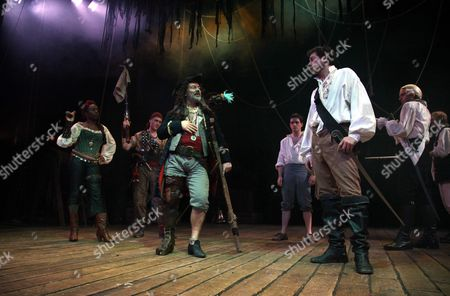 Sharlene Whyte, Keith Allen as Long John Silver and John Lightbody as Squire Trelawny
