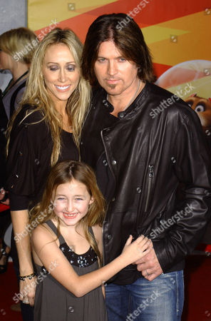 Billy Ray Cyrus with wife Leticia Finley and daughter Noah