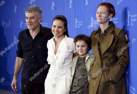 (r-l) British Actress Tilda Swinton Us Actor Aidan Gould Mexican Actress Kate Del Castillo and French Director Erick Zonca Pose During a Photo Call on Their Film 'Julia' at the 58th Berlin International Film Festival in Berlin Germany 09 February 2008 the Film is Running in Competition For the Silver and Golden Bears at the 58th Berlinale Germany Berlin