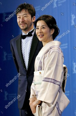 Japanese Actors Tadanobu Asano (l) and Sayuri Yoshinaga During the Photo Call For Their Film 'Kabei - Our Mother' at the 58th Berlin International Film Festival in Berlin Germany 13 February 2008 the Film Runs in the Competition For the Golden Bear Awards at the 58th Berlin Film Festival Germany Berlin