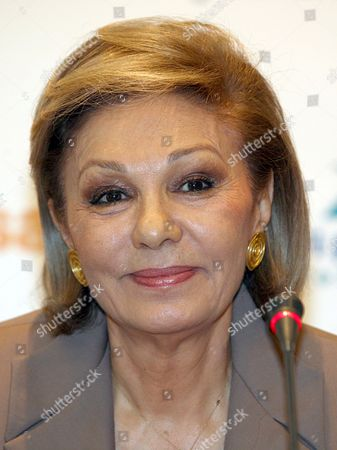 Former Empress of Iran Farah Diba Pahlavi During the Press Conference on the Organisation's Charity Gala in Berlin Germany 25 April 2008 Pahlavi Visited the German Capital For the Charity Gala of 'Innocence in Danger' a Charity Organisation Fighting Against the Abuse of Children and Adolescents Taking Place on 26 April Germany Berlin