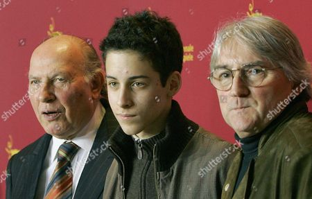 (l-r) Hungarian Writer Imre Kertesz Actor Marcell Nagy and Director Lajos Koltai Arrive For the Screening of 'Fateless' in Competition at the Berlinale Film Festival 15 February 2005 Germany Berlin