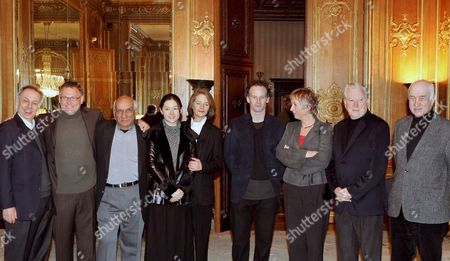 (f L) the Head of the Berlinale Cinema Festival Dieter Kosslick and the Members of the Jury Janusz Kaminski (poland) Yash Chopra (india) Lee Young-ae (korea) Charlotte Rampling (britain) Matthew Barney (usa) Marleen Gorris (netherlands) Fred Roos (usa) Und Armin Mueller Stahl (germany) Pose For Photographers As They Meet in Berlin on Wednesday 08 February 2006 on the Eve of the Berlinale Film Festival Running From 9 to 19 February 2006 Germany Berlin