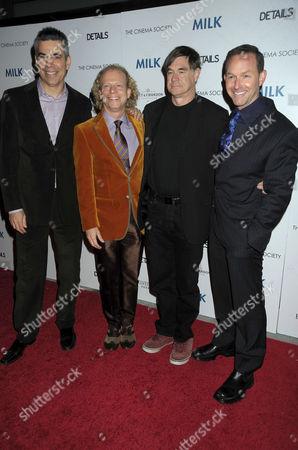 Stuart Milk, Producer Bruce Cohen, Director Gus Van Sant and Producer Dan Jinks