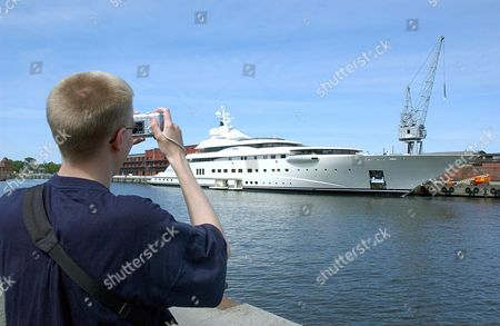 A Tourist Takes a Picture of the Yacht of Russian Oil Magnate and Chelsea Fc Owner Roman Abramovic in Luebeck Germany Wednesday 07 June 2006 the Arrival of Abramovic' Second Yacht is Expected For the Next Days According to Reports the Oil Billionaire Wants to Stay on His Yachts During the World Cup 2006 Germany Luebeck
