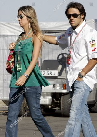 Brazilian Formula One Driver Felipe Massa of Sauber (r) and His Girlfriend Rafaela Bassi From Brazil (l) Are Walking in Paddock at the German Grand Prix Track 'Nuerburgring' in Nuerburg Germany Friday 27 May 2005 the Grand Prix of Europe Takes Place on Sunday 29 May at the Nuerburgring Germany Nuerburg