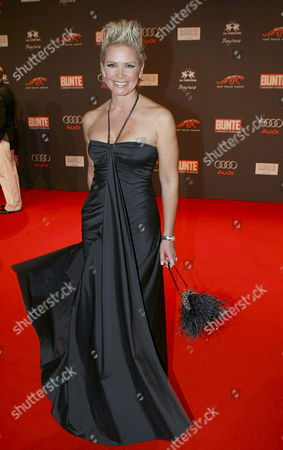 Claudia Effenberg Separated Wife of German Soccer Player Stefan Effenberg Arrives at the Presentation of the Tenth New Faces Award in Berlin Germany 24 April 2008 the New Faces Award Recognises Creative Offspring Actors Germany Berlin