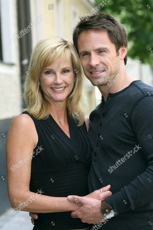 Stock Image of Canadian Born Actor William Devry of the Zdf Soap Opera 'Reich Und Schoen' ('the Bold and the Beautiful') and His Girlfriend and Us Actress Rebecca Staab of the Sister Show 'Schatten Der Leidenschaft' ('the Young and the Restless') in Munich Germany 03 June 2008 Devry Promotes the Tv Soap Opera During His Vacation Germany Munich