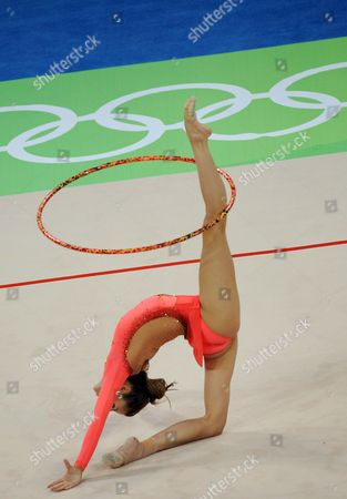 Almudena Cid of Spain During Rythmic Gymnastic Individual All-around Qualification at the Beijing 2008 Olympic Games Beijing China 21 August 2008 China Beijing