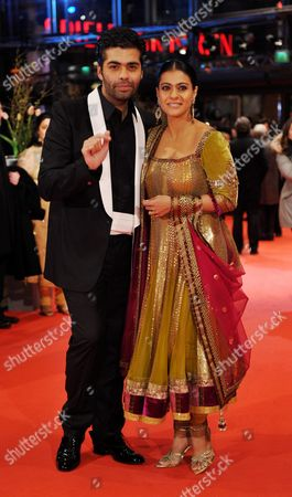 Indian Actress Kajol Devgan (r) and Indian Director Karan Johar (l) Arrive For the Premiere of the Film 'My Name is Khan' During the 60th Berlinale International Film Festival in Berlin Germany 12 February 2010 Germany Berlin