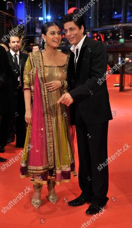 Indian Actor Shah Rukh Khan (r) and Indian Actress Kajol Devgan (l) Arrive For the Premiere of the Film 'My Name is Khan' During the 60th Berlinale International Film Festival in Berlin Germany 12 February 2010 Germany Berlin