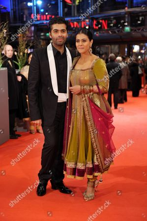 Indian Actress Kajol Devgan and Indian Director Karan Johar Arrive For the Premiere of the Film 'My Name is Khan' During the 60th Berlinale International Film Festival in Berlin Germany Friday 12 February 2010 Germany Berlin