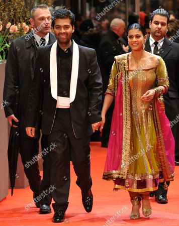 Bollywood Actress Kajol Devgan (r) and Indian Director Karan Johar (l) Arrive For the Premiere of the Film 'My Name is Khan' During the 60th Berlinale International Film Festival in Berlin Germany 12 February 2010 the Festival Runs Until 21 Febuary 2010 Germany Berlin