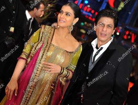 Bollywood Actors Shah Rukh Khan (r) and Kajol Devgan (l) Arrive For the Premiere of the Film 'My Name is Khan' During the 60th Berlinale International Film Festival in Berlin Germany 12 February 2010 the Festival Runs Until 21 Febuary Germany Berlin