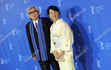 Stock Photo of Japanese Director Yoji Yamada (l) and Japanese Actress Sayuri Yoshinaga Attend the Photocall For the Film 'About Her Brother' Running in the Festival But not Competing For the Golden Bear During the 60th Berlinale International Film Festival in Berlin Germany 20 February 2010 the Festival Runs Until 21 February 2010 Germany Berlin