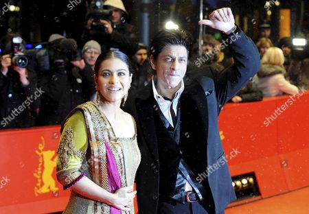 Bollywood Actors Shah Rukh Khan (r) and Kajol Devgan Arrive For the Premiere of the Film 'My Name is Khan' During the 60th Berlinale International Film Festival in Berlin Germany 12 February 2010 the Festival Runs Until 21 Febuary 2010 Germany Berlin