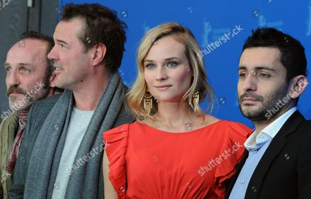 German Actors Karl Markovics (l-r) Sebastian Koch Diane Kruger and Spanish Director Jaume Collet-serra Pose For a Photograph During the Photocall For the Film 'Unknown' During the 61st Berlin International Film Festival in Berlin Germany 18 February 2011 the Film is Running in Section Competition out of Competition of the International Film Festival the 61st Berlinale Takes Place From 10 to 20 February 2011 Germany Berlin