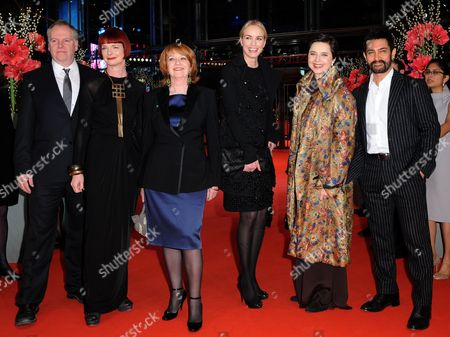 Jury President and Italian Actress Isabella Rossellini (2r) Canadian Director Guy Maddin (l) British Costume Designer Sandy Powell (2l) Australian Producer Jan Chapman (3l) Indian Director Aamir Khan (r) and German Actress Nina Hoss (3r) Arrive For the Awarding Ceremony of the 61st International Film Festival Berlinale in Berlin Germany 19 February 2011 Iranian Director Asghar Farhadi's Movie 'Jodaeiye Nader Az Simin' (nader and Simin a Separation) Later Scooped Up a String of Top Prizes at the Berlin Film Festival on 19 February Including the Berlinale's Prestigious 'Golden Bear' For Best Motion Picture Germany Berlin