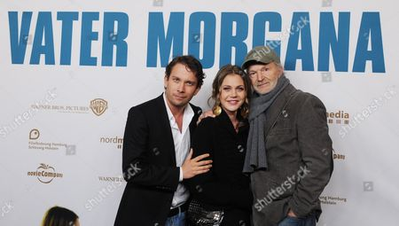 A Picture Made Available on 08 December 2010 Shows German Actors (l-r) Christian Ulmen Felicitas Woll and Michael Gwisdek As They Pose at the Premiere of Their Movie 'Vater Morgana' (father Morgana) at the Passage-cinema in Hamburg Germany 07 December 2010 the Movie Will Arrive in German Cinemas on 16 December 2010 and Tells the Story of Lutz and His Father who After Years of Being Absent Suddenly Appears Again in the Life of His Son As 'Father Morgana' Germany Hamburg