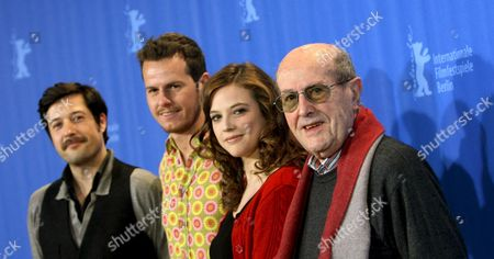 From L-r Portuguese Actors Filipe Vargas Catarina Wallenstein and Ricardo Trepa and 100-year-old Director Manoel De Oliveira Pose at the Photocall For Their Film 'Eccentricities of a Blond Hair Girl' at the 59th Berlin International Film Festival in Berlin Germany 09 February 2009 the Film Runs in the 'Berlinale Special' Section a Total of 18 Films Compete For the Silver and Golden Bears of the 59th Berlinale Germany Berlin