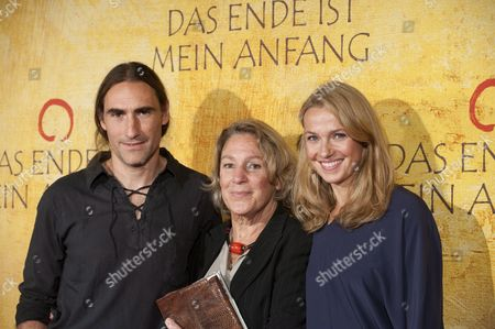 Stock Photo of Writer Folco Terzani (l) Co-author of the Book 'The End is My Beginning ' Which Talks About His Father's Life and Death with His Mother Angela Staude Terzani (c) and Sister Saskia Terzani As They Arrive For the German Film Premiere of the Film 'Das Ende Ist Mein Anfang' (the End is My Beginning) in Munich Germany on 05 October 2010 the Film About a Critically Ill Journalist Recounts to His Son the Story of His Life His Spiritual Experiences and How He is Preparing For Death Will Start in Germany on 07 October 2010 Germany Munich