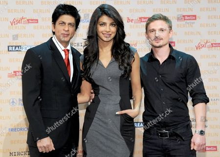 Indian Actors Shahrukh Khan (l) Priyanka Chopra (c) and German Actor Florian Lukas (r)áattend the Press Conference on His Film 'Don 2' in Berlin Germany 22 October 2010 the Film Shot in the German Capital is to Be in German Cinemas End of 2011 Germany Berlin