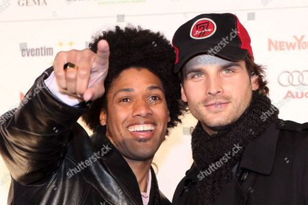 Us Born Actor and Singer Daniel Dodd-ellis (l) and Swiss Singer Patrick Nuo During Live Entertainment Awards 2009 in Hamburg Germany 26 February 2009 Germany Hamburg