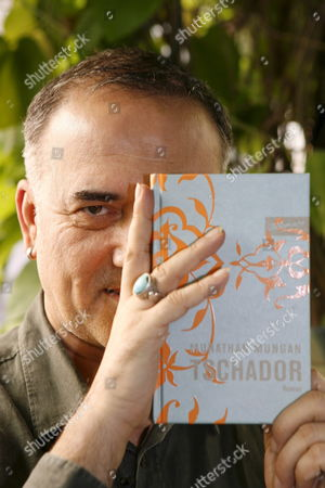 Stock Picture of Turkish Author Murathan Mungan Presents His Book 'Tschador' at an Interview in Erlangen Germany 30 August 2008 'Tschador' is Mungan's Second Publication in Germany After the Avowing Gay Had Published More Than 50 Books in Turkey Germany Erlangen