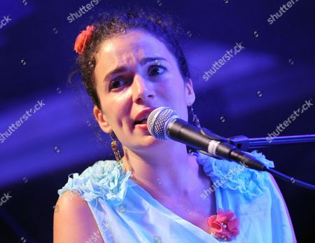 French-israeli Singer Yael Naim Performs on Stage During Her Concert at the Postbahnhof in Berlin Germany 06 June 2011 Germany Berlin
