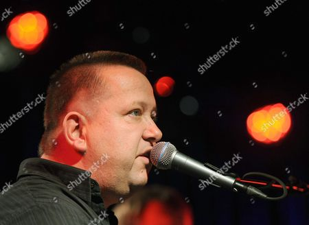 A Picture Made Available on 14 November 2010 Shows German Singer Sebastian Krumbiegel Performing with His Band 'Die Feinen Herren' at Ufafabrik in Berlin ágermany 13 Novemver 2010 Germany Berlin